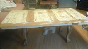 Super Cool Coffee Tables made from Antique  Farm Doors