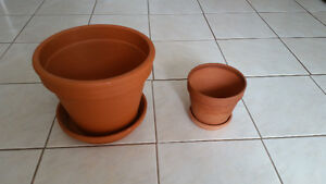 Two Brand New Terracotta Pots