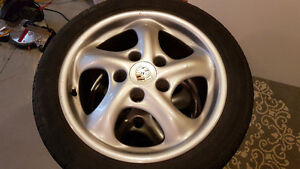 Porsche twist wheels with 5x100 adapters Kitchener / Waterloo Kitchener Area image 7