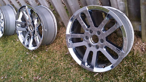 "Nissan Titan OEM 20"" Chrome Wheels"