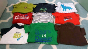 12 month old boys onesies - $20 for all 9