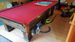 Antique 5 x 10 snooker table pool table