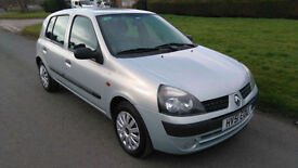 2001 RENAULT CLIO 1.2 AUTHENTIQUE *** 1 YEARS MOT, ONLY 74,000 MILES ***