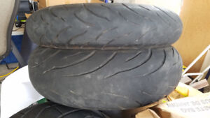 Used Motorcycle Tires 120/70 and 180/55