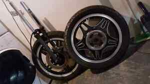 Honda Superhawk CB/CM 450 wheels + front end
