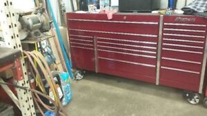 Snap-on Tool Box Roll Cab Triple Bank 19 Drawers Cranberry