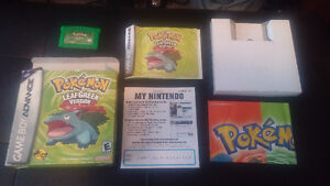 Pokemon games! Sapphire and leaf green