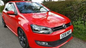 2011 Volkswagen Polo 1.4L Ltd Edition Petrol Manual Red 3D