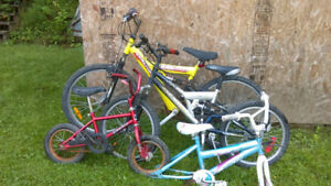lot de velo bike montagne hybride enfant piece