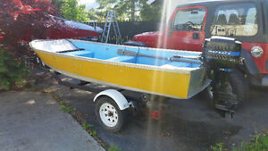 14 ft Fishing Boat Motor and Trailer for sale