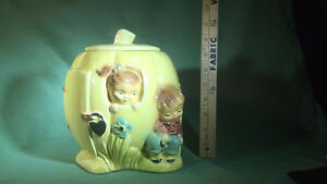 Rare-PETER PETER PUMPKIN EATER COOKIE JAR ROSEVILLE CO.