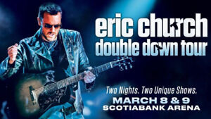Eric Church Double Down Tour Tickets - March 9 in Toronto