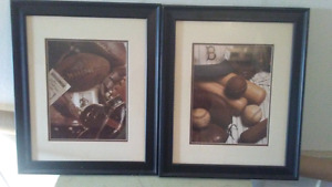 Man Cave Football and baseball pictures