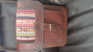 Leather purse from Peru