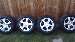 "CORE RACING 16"" RIMS W/ MOUNTED WINTER TIRES FOR TOYOTA COROLLA"