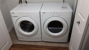 Whirlpool Washer and Dryer Set (White)- Great Condition