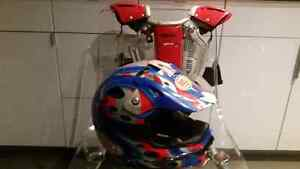 Dirt bike helmet and chest back protector Windsor Region Ontario image 1