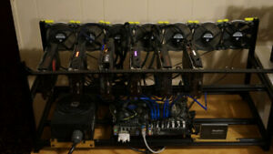 Mining rig x12 RX 580 8GB (Total of 340 MH/s)