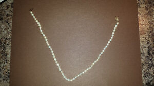 Akoya Cultured Pearl Necklace Cambridge Kitchener Area image 1