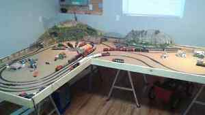 Train table with train and more in boxe SOLD