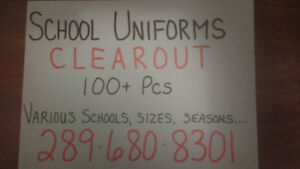 SCHOOL UNIFORMS- CLEAROUT! Various schools, sizes, conditions...