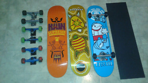 New skateboard decks with grip $60, new complete $100