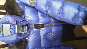 Womens winter jacket, JUICY COUTURE - Hooded puffer jacket