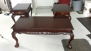 antique coffee and end tables