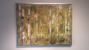 Canvas Painting - white birch