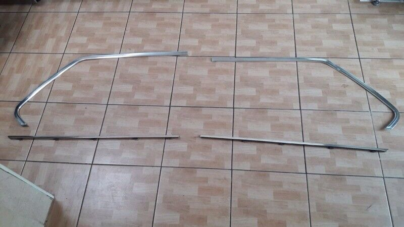 BMW e28 chrome window strips trims mint 82-88 breaking spares 520i 525e m535 can post