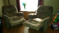 2 for the price of 1! Recliners