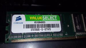 1GB DDR Memory (VS1GB400C3)  PC-3200 (400MHz)
