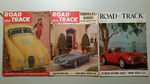 1954 Road and Track Magazine Complete Year