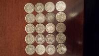 Silver Canadian Half Dollars