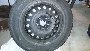 Winter tires on steel rims for sale