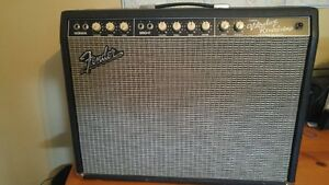 Fender Vibrolux with upgraded speakers and mod. Nice.