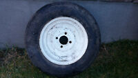 12 inch Trailer tire and rim