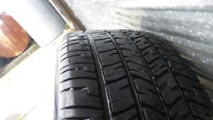 Winter tires with steelies