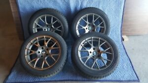 BMW 535i  wheels and Hankook snow tires 225/50R17