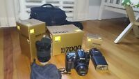 Nikon D7000 + 2 lenses + accessories