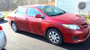 Red 2013 Corolla for $9k