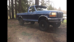 1996 ford f250 OBS Solid axle front