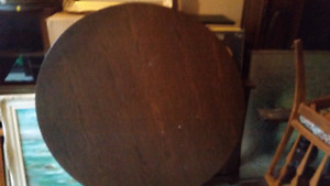 "48"" round table top. No legs or chairs"