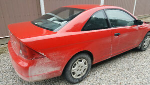 2001 Honda Civic LX Coupe (2 door) For Fix or Parts