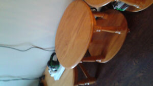 Solid oak coffee table and end tables 125 each for a total 375