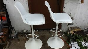 High Back Stools or Chairs Crisp White Strathcona County Edmonton Area image 3