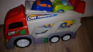 transport truck with cars