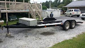 24 ft car hauler. flat bed trailer