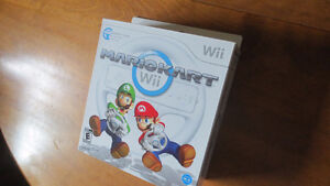 Wii Mario Kart Game in Box with Wheel