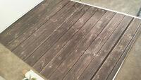 Photography floordrop 5' x 7' -- $70 (dark brown)